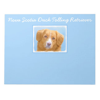 Nova Scotia Duck Tolling Retriever Dog Painting Notepad