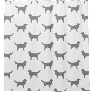 Nova Scotia Duck Tolling Retriever Silhouettes Shower Curtain