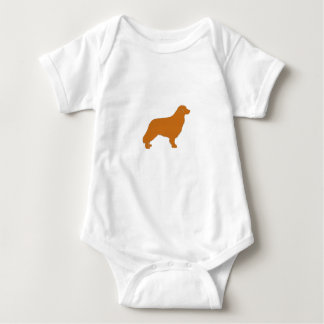 nova scotia duck tolling retriever silo color baby bodysuit
