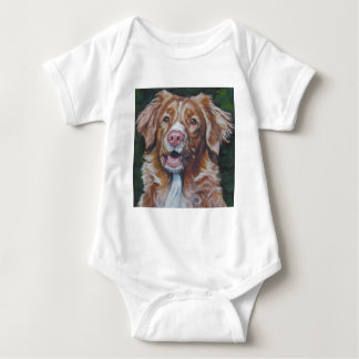 Nova Scotia Duck Tolling Retriever Toller art Baby Bodysuit