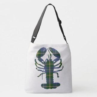 Nova Scotia Lobster tartan  blue Crossbody Bag