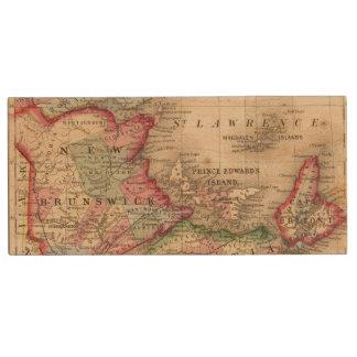 Nova Scotia, New Brunswick, Map by Mitchell Wood USB 2.0 Flash Drive