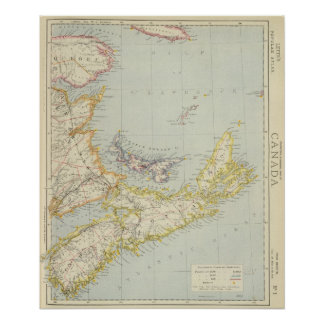 Nova Scotia, Prince Edward Island, Newbrunswick Poster