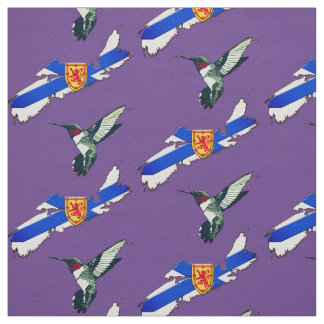 Nova Scotia Red ruby-throated hummingbird fabric