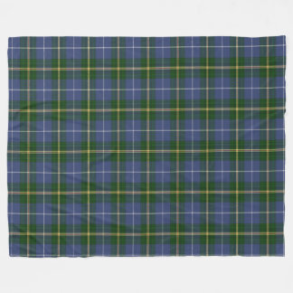 Nova Scotia Tartan Custom  blue Plaid Fleece Blanket