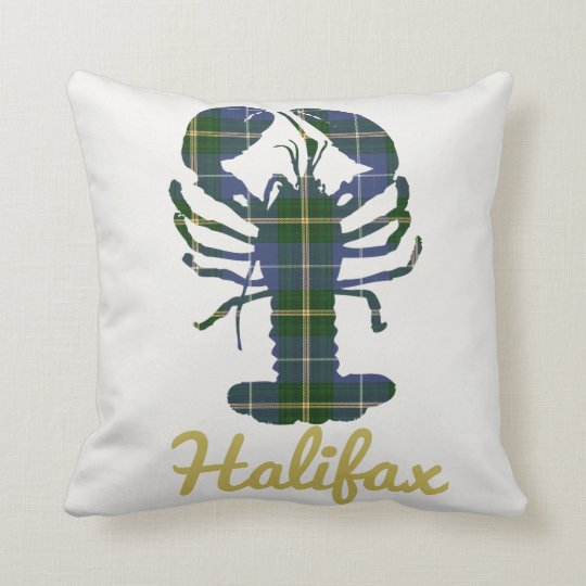 Nova Scotia Tartan Decorator Lobster Halifax Throw Pillow