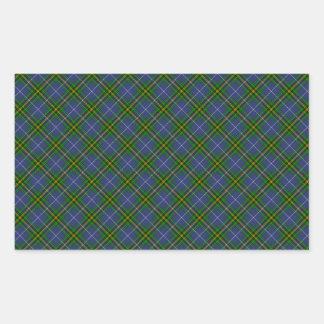 Nova Scotia Tartan Designed Print (Canada) Rectangular Sticker