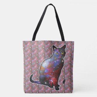 """""""Nova"""" Space In Cat Tote Bag"""