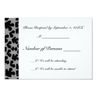 Novae Ivory (Grey) RSVP Card 9 Cm X 13 Cm Invitation Card