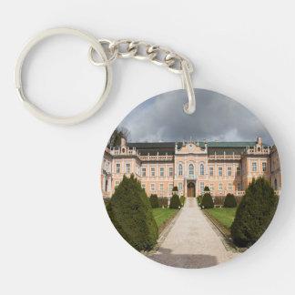 Nove Hrady Castle, Bohemia, Czech Double-Sided Round Acrylic Key Ring