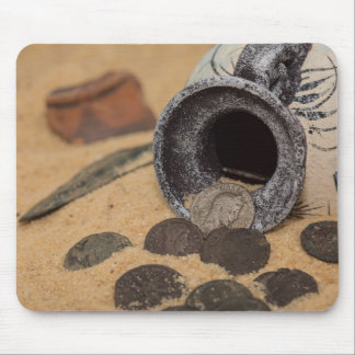 Novel coins mouse pad