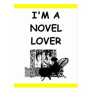 novel lover post card