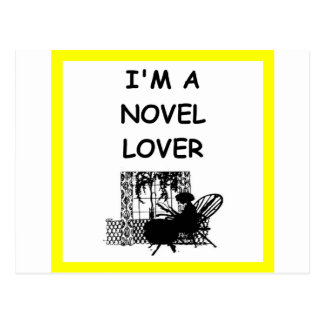 novel lover postcard