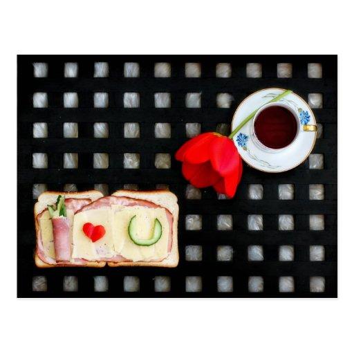 Novel tic breakfast post cards