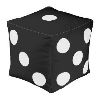 Novelty Black and White Dice Monochrome Oversized Cube Pouffe