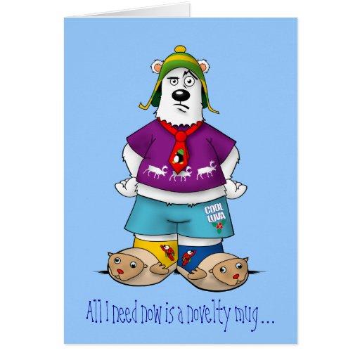 Novelty Christmas Bear Cards