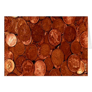 Novelty Copper Coins Card