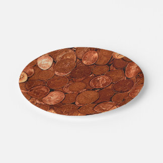 Novelty Copper Coins Paper Plate