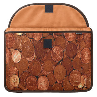Novelty Copper Coins Sleeve For MacBook Pro