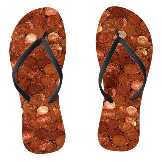 Novelty Copper Coins Thongs