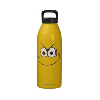 Novelty Evil Smiley Face Super Villain Yellow Drinking Bottle