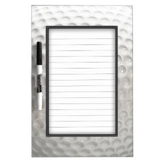Novelty Golf Ball Sport Dry Erase Board