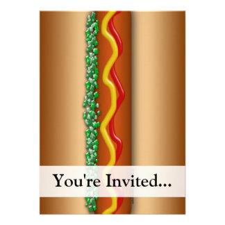 Novelty Hot Dog Graphic Invite