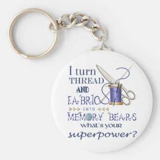 Novelty Key ring for designers of memory bears Basic Round Button Key Ring