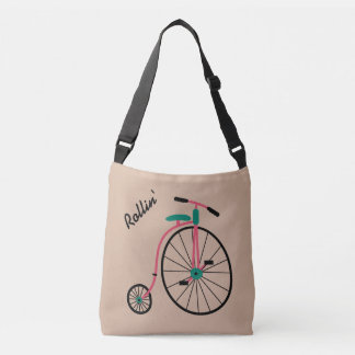 Novelty Old Fashioned Bicycle Tote Bag