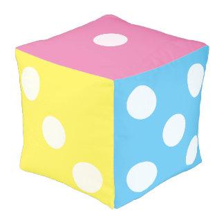 Novelty Pastel Rainbow Dice Colorful Nursery Room Cube Pouffe