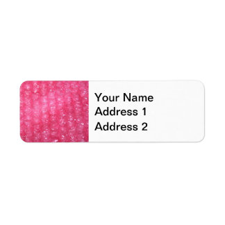 Novelty Pink Bubble Wrap Look Return Address Label