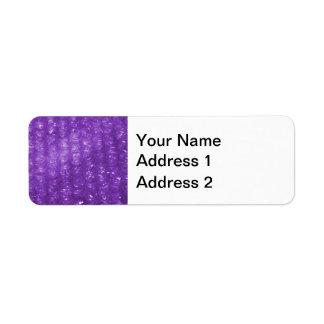 Novelty Purple Bubble Wrap Look Return Address Label