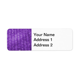 Novelty Purple Bubble Wrap Look Return Address Label