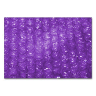 Novelty Purple Bubble Wrap Look Table Cards