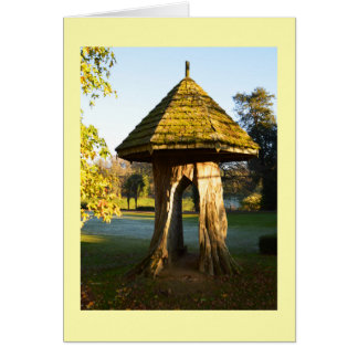 Novelty tree stump card