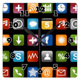 Novelty wall clock | Fun vector app icon graphics
