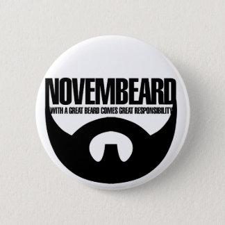 Novembeard for Beards 6 Cm Round Badge