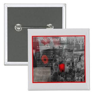 November 11 Remembrance Day Button