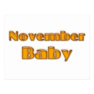 November Baby Postcard