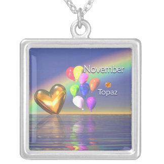 November Birthday Topaz Heart Jewelry