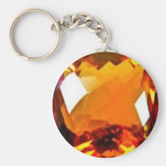 November Birthstone-Golden Citrine by Sharles Key Ring