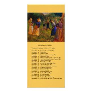 November events rack card design
