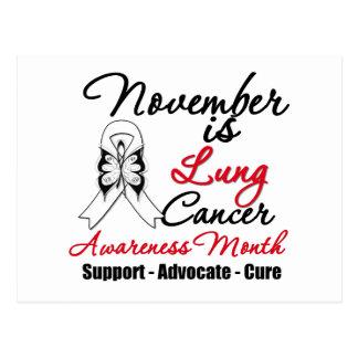 November is Lung Cancer Awareness Month Postcard
