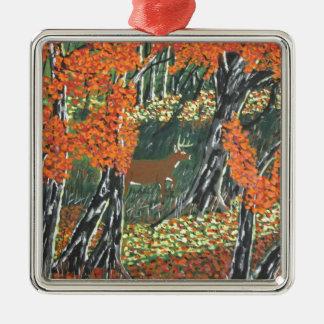 November Morning Silver-Colored Square Decoration