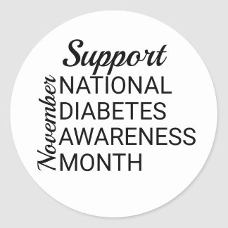 November National Diabetes Awareness Month Classic Round Sticker
