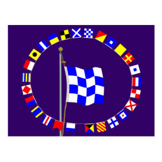 "November ""No"" Nautical Signal Flag Postcard"
