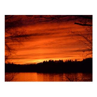 November Sunset Postcard