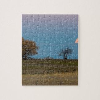 November Supermoon Rising Jigsaw Puzzle