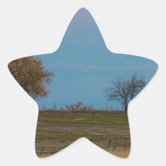 November Supermoon Rising Star Sticker