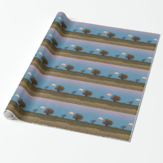 November Supermoon Rising Wrapping Paper